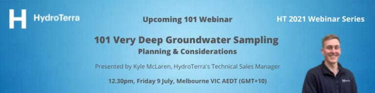 Webinar: 101 Very Deep Groundwater Sampling   Planning & Considerations banner