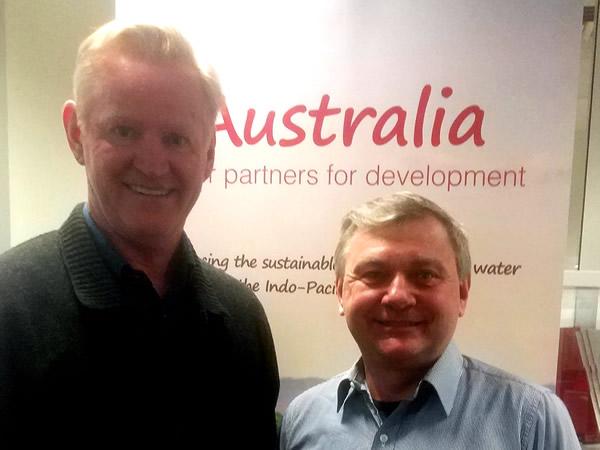 Prof. Nick Schofield (AWP) and John Teres (AHA)