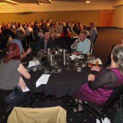 At the conference dinner