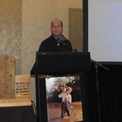 Peter Waugh accepts Alex Miller Award