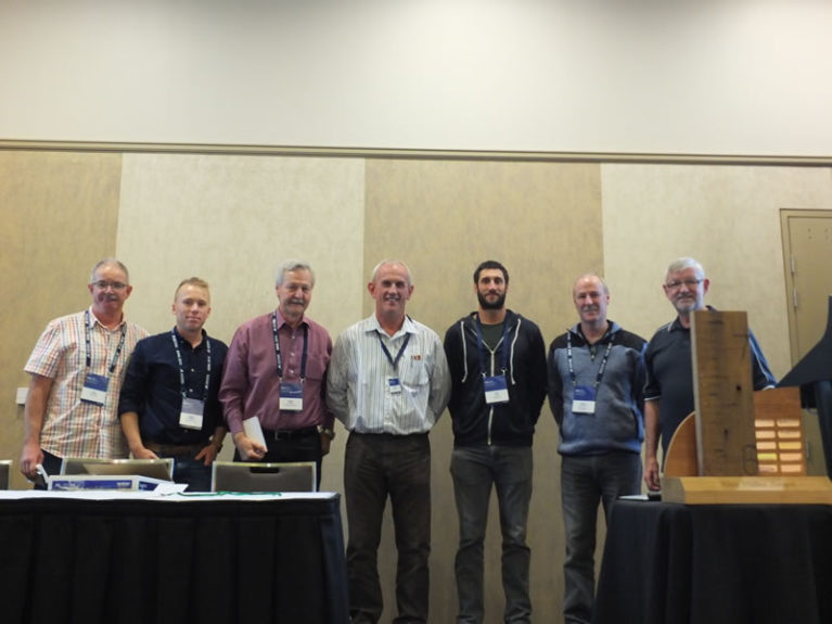 Conference Think Tank members with President Bill Barratt (R)