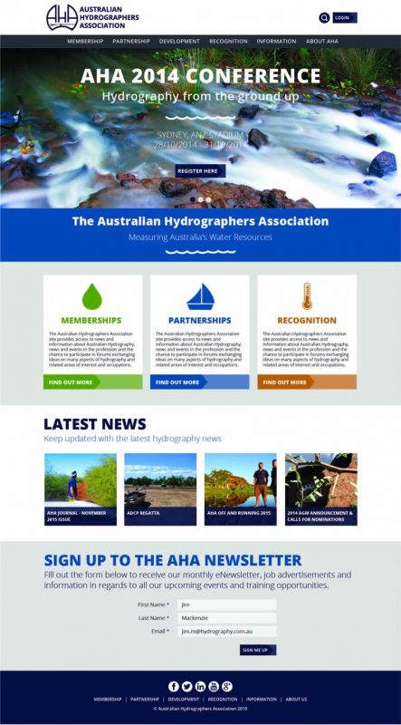 AHA Website homepage