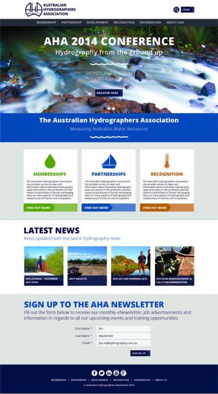 AHA Website homepage