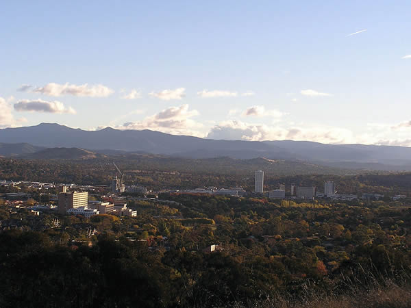 Woden Valley and town centre from Red Hill