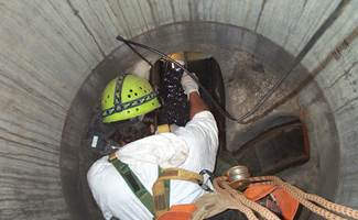 MHL working inside confined space